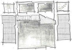 disposição de tapete no quarto de casal - opção 2