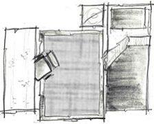 disposição de tapete no quarto de solteiro - opção 2