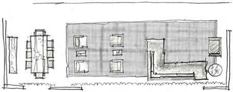disposição de tapete em sala de três ambientes