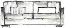 disposição de almofadas em sofá - opção 3