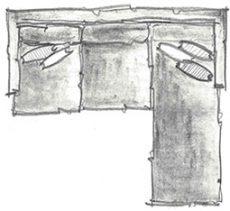 disposição de almofadas em sofá chaise